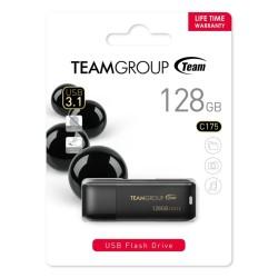 Памет 128GB USB Flash Drive, Team Group C175, USB 3.1, черна