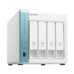 Мрежови диск (NAS) Qnap TS-431K, Alpine AL214, без твърд диск (x 3.5-inch SATA 6Gb/s, 3Gb/s), 1GB DDR3, 2x LAN 10/100/1000, 3x USB 3.2 Gen 1