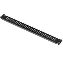 """19"""" Вентилиран панел MIRSAN MR.PST1U.01, 482 x 15 x 44 мм / 1U, toolless монтаж, черен"""