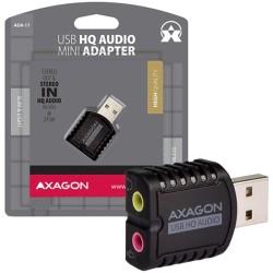 Външна звукова карта AXAGON ADA-17, 2.0, USB 2.0, черна