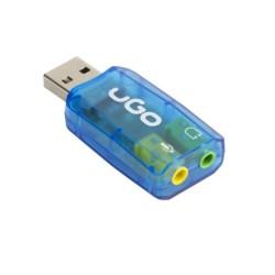Външна звукова карта uGo UKD-1085, 5.1, USB, 3.5mm жак слушалки, 3.5mm жак микрофон