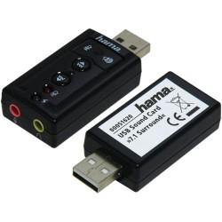 Външна звукова карта Hama 51620, 7.1, USB