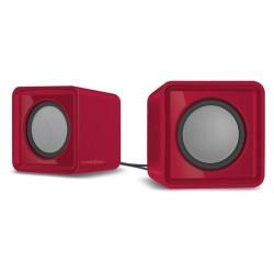 Тонколони Speedlink Twoxo, 2.0, 5W(2.5W +2.5W), USB, преносими, червени