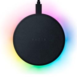 Зарядно устройство Razer Charging Pad Chroma (RC21-01600100-R371), от USB C(ж) към безжично зареждане, 10W, черно, RGB подсветка