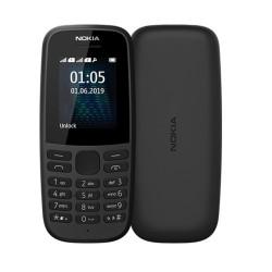GSM Nokia 105 (2019)(черен), поддържа 2 sim карти, 1.7