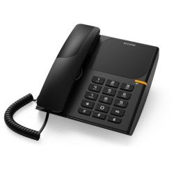 Стационарен телефон Alcatel T28, LED идентификатор на повикване, черен