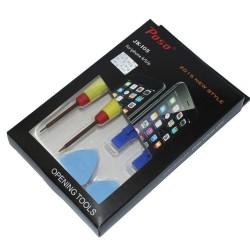 Комплект 6 в 1 за разглобяване на Iphone 4/5/6 Poso JK-105, кръстата отвертка, еврейска звезда, пластмасови повдигача, тънко/дебело перце