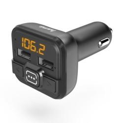 FM трансмитер Hama 14163, от 87.6 MHz до 107.9 MHz, AUX, 2x USB, черен