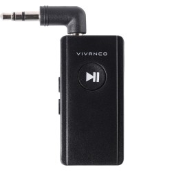 Bluetooth ресивър Vivanco 60341, Bluetooth 4.2, 3.5 mm жак, до 6 часа време на работа, черен