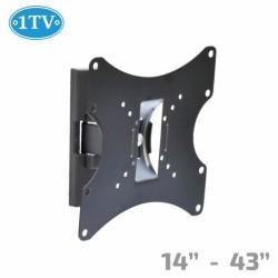 """Стойка за телевизор 1TV STTV 1TV-100, за стена, до 14-43"""", VESA до 200x200, до 15kg"""