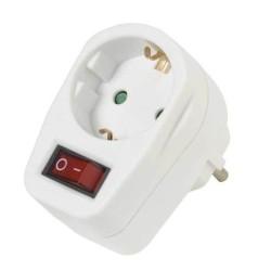 Адаптер Vivanco 22396, защита от деца, с ключ, бял