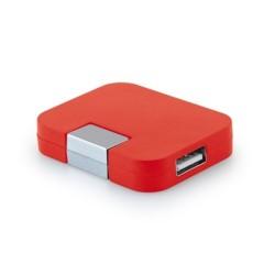 USB хъб Hi!dea, 4 порта, USB 2.0, червен