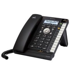 VoIP телефон Alcatel Temporis IP301G, монохромен дисплей, 4 SIP accounts, PoE, черен